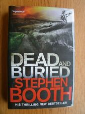 Stephen Booth Dead and Buried 1st ed SIGNED Hard Cover