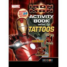 Iron Man Temporary Tattoo Booklet like Feature Film