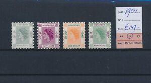LO45027 Br Hong Kong 1954 Elizabeth II definitives lot MH cv 147 EUR