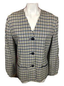 Women's Vintage Pendleton USA 2 Piece Jacket Skirt 12 Wool Career (E268)
