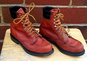 RED WING Classic Vintage Engineer Work Boots Rare Iconic 404 Size 9 E