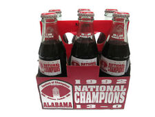Coca-Cola Bottle Alabama 1992 Championship 6-pack in Commemorative Holder
