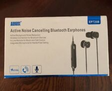 August Active Noise Cancelling Bluetooth Earphones EP725B