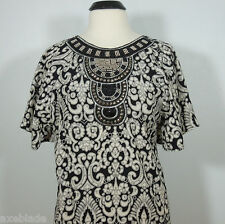 FRANCESCA'S DINA BE Collections Beads Embellished Printed Dress size S (NEW)