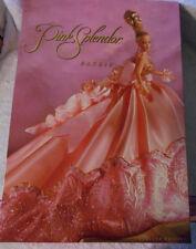 1996 Barbie Pink Splendor Doll w/Box LTD ED Elegant Flowing Gown Up Do Hair NICE