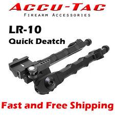 "Accu-Tac LR-10 Quick Detach Picatinny Mount Rifle Bi-pod w/Rubber Feet (7-11.5"")"