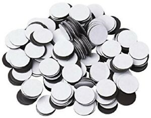 """25 pcs 3"""" (60 mil) Magnetic Adhesive Circles Magnets Peel & Stick Made in USA"""