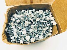 """#8 x 1/2"""" WHITE Zinc Woodbinder Metal Roofing Screws, 1000ct"""