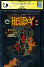 SS CGC HELLBOY DAVID HARBOUR MIKE MIGNOLA SIGNED  SEED OF DESTRUCTION VARIANT