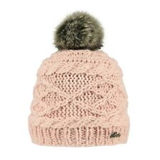 2018 BARTS CLAIRE SKIN PINK 138507 ADULT BEANIE FAUX FUR POM HAT LADY WOMEN JUMP