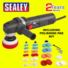 Sealey SPK600 230V 600W Spot Polisher Kit Pads 700-2500 RPM Buff + Extra Pads