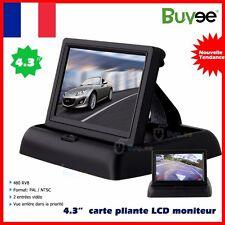 4.3'' Ecran TFT LCD Moniteur Noir Pour Caméra de Recul Rearview Voiture Auto FR