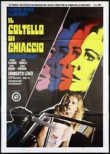 IL COLTELLO DI GHIACCIO MANIFESTO FILM BAKER LENZI THRILLER 1972 MOVIE POSTER 4F