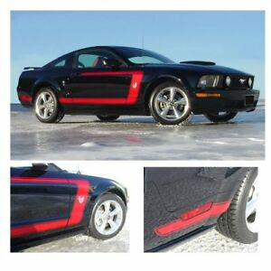 Ford Mustang 2005-2009 Boss Style Side Graphic Kit - Matte Black