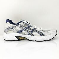 Asics Mens Gel Strike 2 T9D4N White Blue Running Shoes Lace Up Low Top Size 8.5