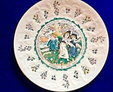 Vintage Royal Doulton Taurus Astrological Sign Greenaway Almanack Plate 1977