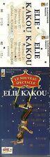 RARE / TICKET SPECTACLE COMIQUE CONCERT LIVE - ELIE KAKOU A ROUBAIX 1997