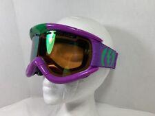 ELECTRIC  GOGGLES Gloss Purple / Green  Mirror Lens Ski Snow Goggles