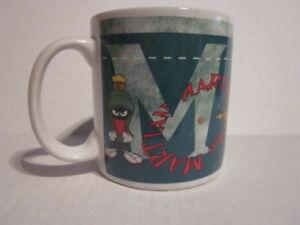 Vintage 1998 Warner Bros MARVIN THE MARTIAN Image Ceramic Mug