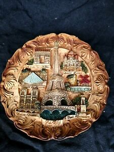 vintage Decorative Ceramic Wall Plaque  Paris
