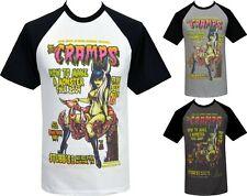 The Cramps Mens PSYCHOBILLY Raglan T-Shirt Johnny Ace Studio Monster Zombie Punk