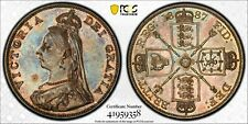 1887 Great Britain Double Florin ARABIC 1 S-3923 PCGS MS62 Silver Coin