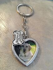 Pet Memorial Dog Photo Key Ring - Pet Loss Sympathy Bereavement Gift