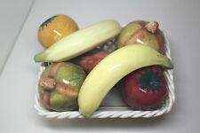 Art Pottery Ceramic Weave Basket with Color Mix Fruit, Cabo S.L. Made in Spain