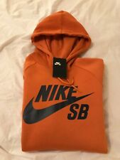 Nike SB skateboarding hoody brand new with tags size small colour cinder orange