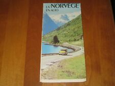 Vintage Map of Norway - 1970's - Excellent condition