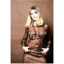 Sharon Tate Posing in Brown Outfit and Smiling 8 x 10 Inch Photo