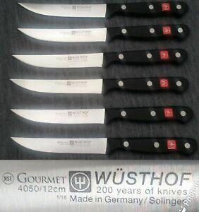 6 X Wusthof Gourmet 4-1/2-Inch Steak Knife 4050/12cmSolingen Germany New other