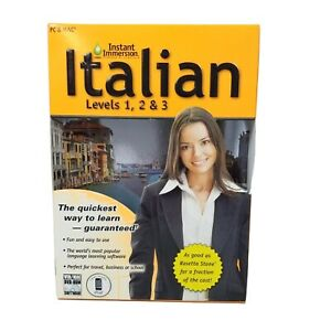 Learn How To Speak Italian With Instant Immersion Levels 1-3 DVD New Box PC MAC