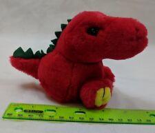 Puffkins Drake Red Dinosaur T-Rex Plush Stuffed Swibco VTG Toy w/ Tag