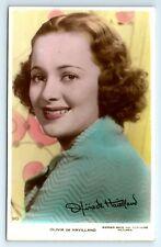 "POSTCARD - Olivia de Havilland, movie star film actress, tinted ""Art Photo"" #90"