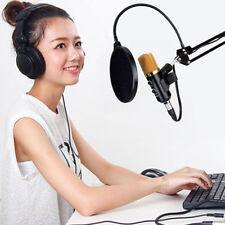 USB Condenser Studio Sound Recording Microphone Mic + Shock Mount Tripod S TDC