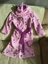 UNICORN GIRL'S DRESSING GOWN ROBE - SIZE 6 - EXCELLENT CONDITION