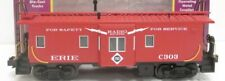 ✅MTH PREMIER ERIE BAY WINDOW CABOOSE 20-91095! FOR DIESEL STEAM ENGINE O SCALE