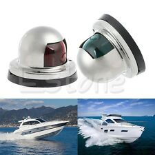 Marine Boat Yacht Light 12V Stainless Steel LED Bow Navigation Lights One Pair
