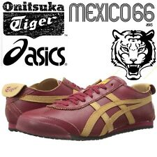 Asics Onitsuka Tiger Mexico 66 Burgundy Trainers Unisex Retro Football Shoes