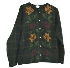 Liz Baker Women's Medium Long Sleeve Button Up Knitted Cardigan Sweater Black