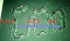 Kit 3 Formine Stampo Biscotti Pasta a forma di Isola Sardegna 4 Mori Souvenir