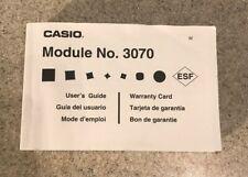 User Guide Casio Module 3070