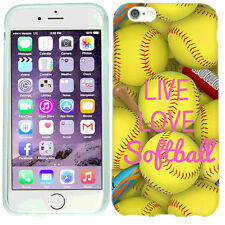 For Apple iPhone 6 Plus Love Softball Case Skin Cover