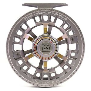 Hardy Ultralite CA DD 6000 Reel Titanium - BACKING AND FLY LINE OFFERS - ON SALE