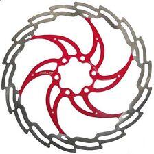 180mm 6 Bulloni Rotore Freno a disco idraulici MTB Bicicletta Rosso
