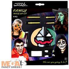 Family Halloween Make Up Kit Fancy Dress Party Adults Kids Costume Face Paint