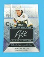 2020-21 UD Black Diamond Peyton Krebs Silver on Black Rookie Signatures/149
