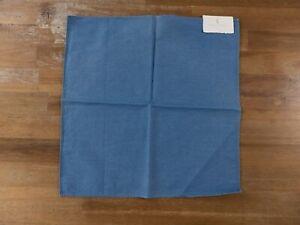 BRUNELLO CUCINELLI light blue denim cotton pocket square authentic - NWT