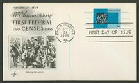 #UX53 4c Bureau of the Census, Art Craft FDC **ANY 4=FREE SHIPPING**